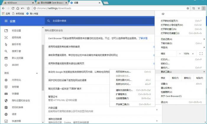 PC版百分浏览器v4.3.9.210正式版-大鹏资源网