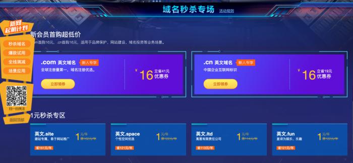 新网1元撸域名+网站+企业邮箱-大鹏资源网